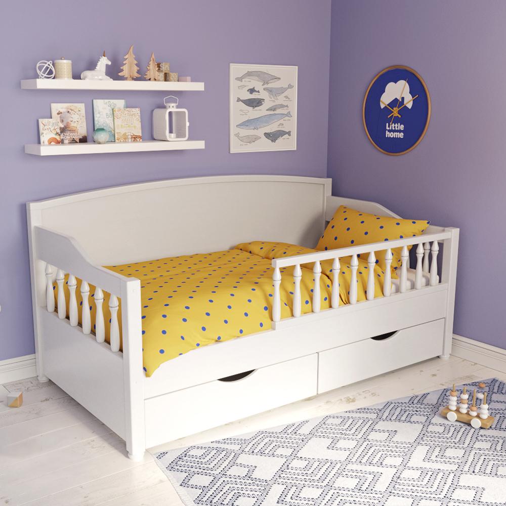 детская кровать с бортиками декор