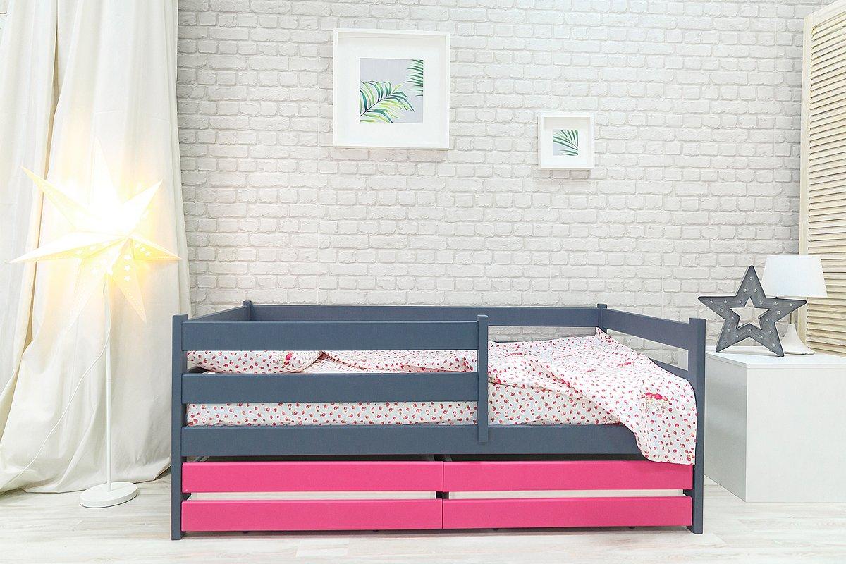 детская кровать с бортиками фото идеи