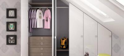 Шкаф в мансарде — изготовление своими руками