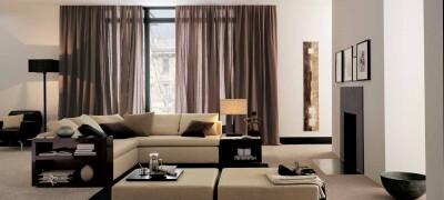 Как выбрать и сочетать шторы в стиле Хай-Тек
