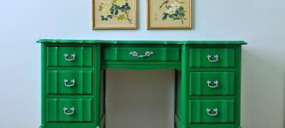 Перекраска старой мебели из ДСП в другой цвет