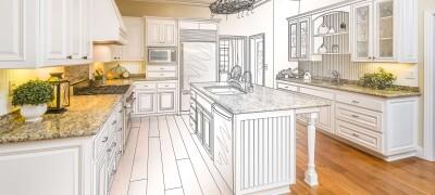 Чертежи и размеры кухонных шкафов