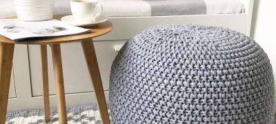 Разновидности и изготовление вязаного пуфа своими руками