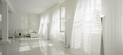 Применение белых штор в интерьере