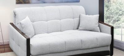 Описание диван-кровати Аккордеон с ортопедическим матрасом и ящиком для белья