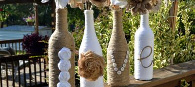 Дизайн и декорирование бутылок своими руками