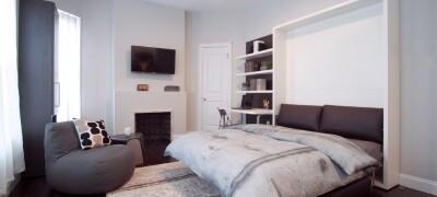 Конструкция и правила выбора откидной кровати, встроенной в шкаф