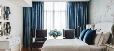 Выбор и использование синих штор в интерьере