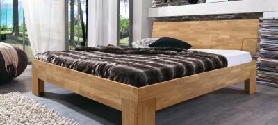 Двуспальные кровати из массива — описание и выбор