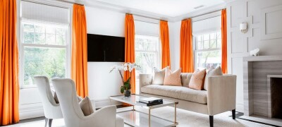 Описание и характеристики оранжевых штор