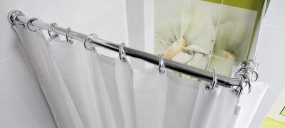 Виды и выбор штанги для шторы в ванную