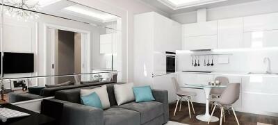 Способы планировки и зонирования кухни 15 кв.м с диваном