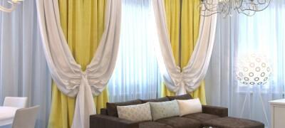Пошив своими руками и использование двухцветных штор