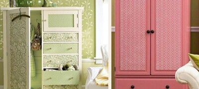 Как обновить старый шкаф своими руками
