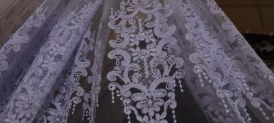 Подробное описание тюли с вышивкой