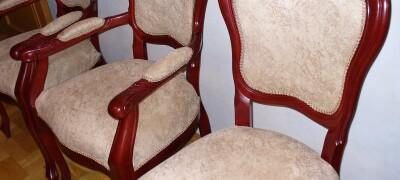 Как обшить старый стул новой красивой тканью