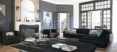 Оформление интерьера с черной мебелью