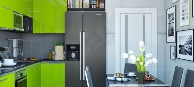 Использование зеленого цвета на кухни