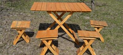 Самодельный складной столик для пикника