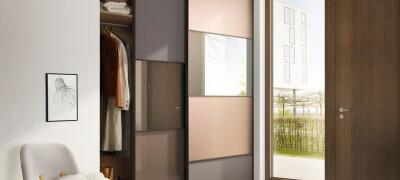 Навесные двери на шкаф-купе