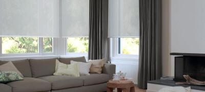 Солнцезащитные рулонные шторы на окна в квартире