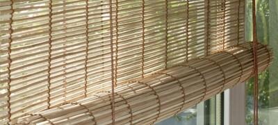Рулонные шторы из бамбука