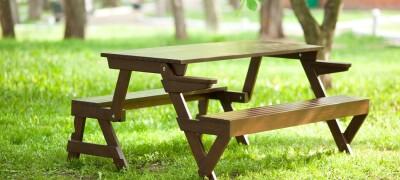 Поэтапное описание изготовления стола-скамейки своими руками