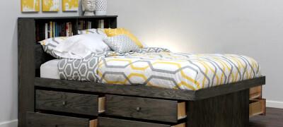 Описание кроватей с выдвижными ящиками — особенности и устройство