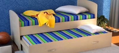 Особенности и правила выбора выдвижной кровати для двух детей