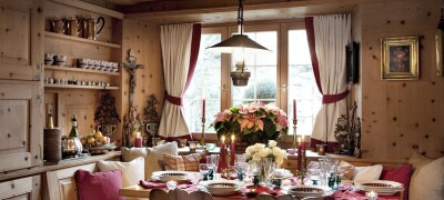 Дизайн и использование штор в стиле кантри