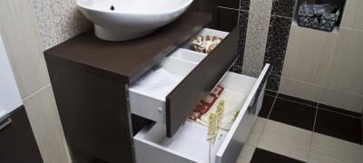 Как установить раковину с тумбой в ванной