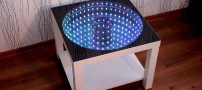 Инструкция по изготовлению стола с эффектом бесконечности