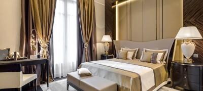 Виды дизайна классических штор в спальню