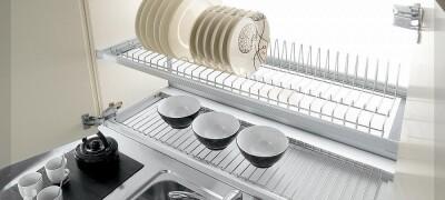 Встраиваемая сушилка для посуды в шкаф