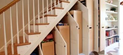 Виды конструкций и способы изготовления шкафа под лестницу