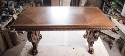Ремонт и реставрация деревянного стола