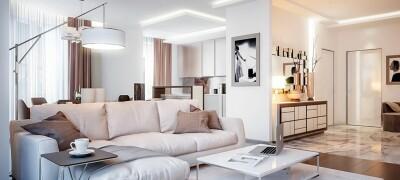 Способы размещения мебели в однокомнатной квартире