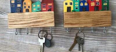 Настенная вешалка для ключей своими руками