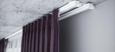 Как на потолочный карниз повесить шторы