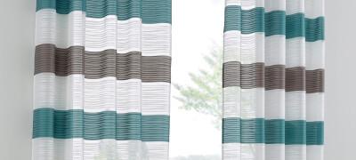 Описание и использование штор в полоску в интерьере