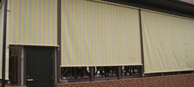 Описание уличных штор для веранды, беседки и террасы