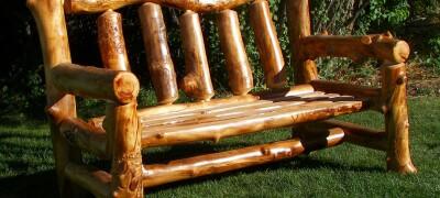 Мебель из бревен своими руками