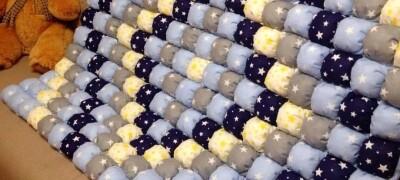 Как сшить одеяло бонбон