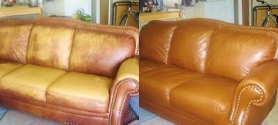 Ремонт кожаной мебели жидкой кожей