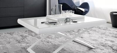 Особенности и разновидности столов-трансформеров для гостиной