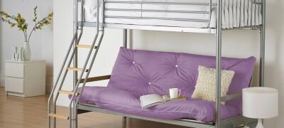 Описание кровати-чердака с диваном внизу