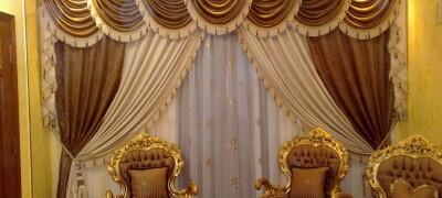 Тюль в интерьере зала