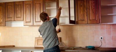 Как повесить кухонные шкафы на стену из гипсокартона