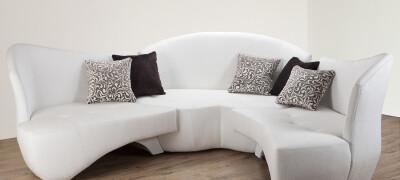 Сочетание и расположение кожаного дивана в интерьере