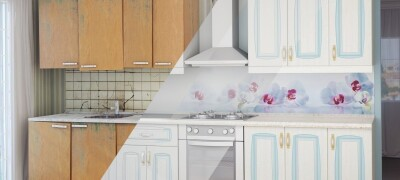 Как изменить цвет шкафа из ДСП на белый